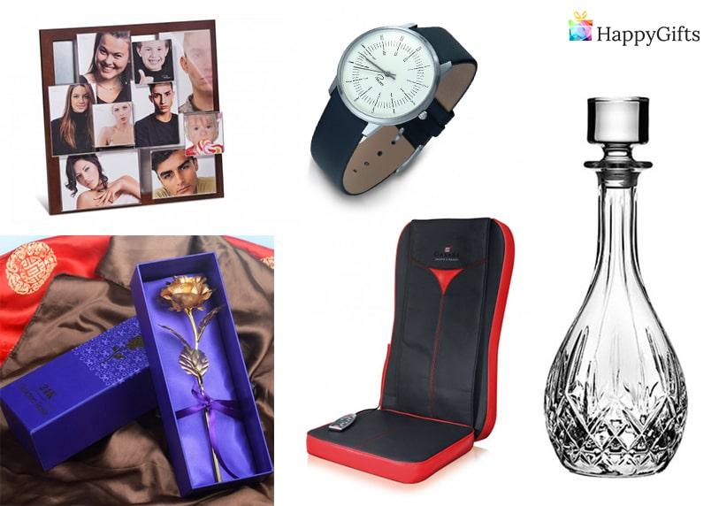 скъп подарък, Масажна постелка, рамка за снимки, ръчен часовник, златна роза, декантер за вино