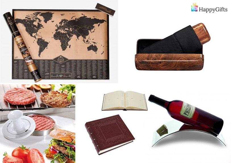 скромен подарък за рожден ден на 60 годишен мъж поставка за вино скреч карта на света албум за снимки