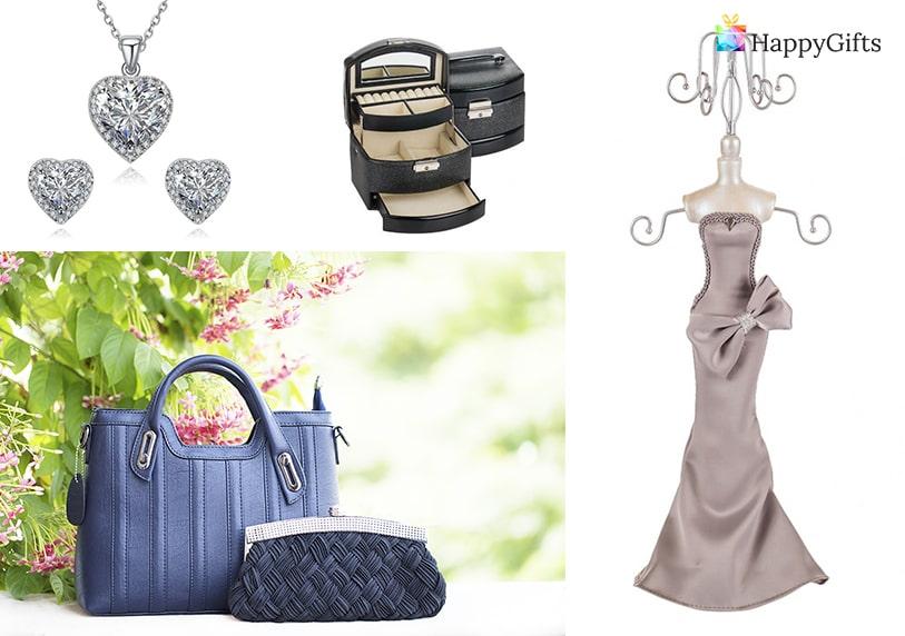 стилен подарък, бижу, кутия за бижута, кукла за бижута, дамска чанта