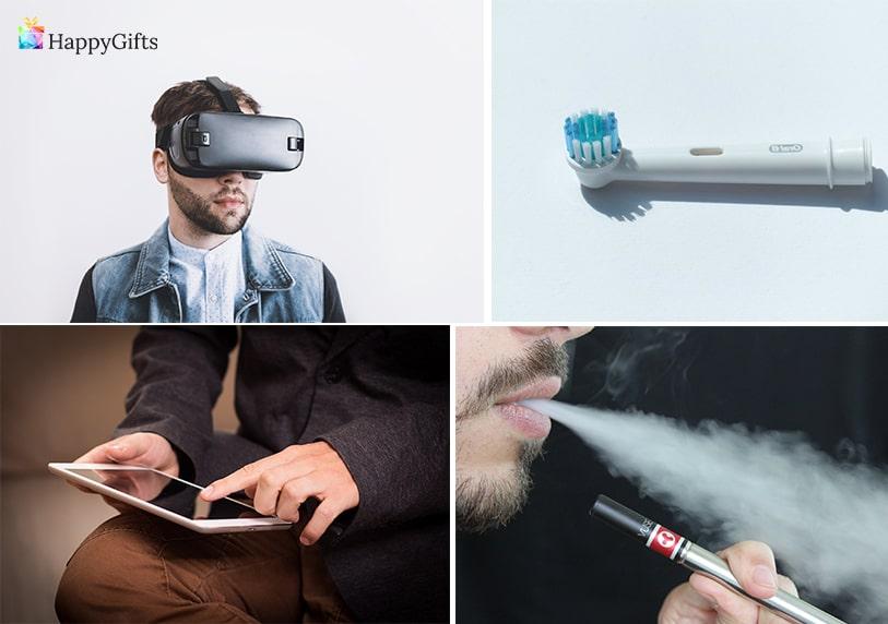 технологични подаръци за гаджето очила за виртуална реалност електрическа четка за зъби таблет електронна цигара