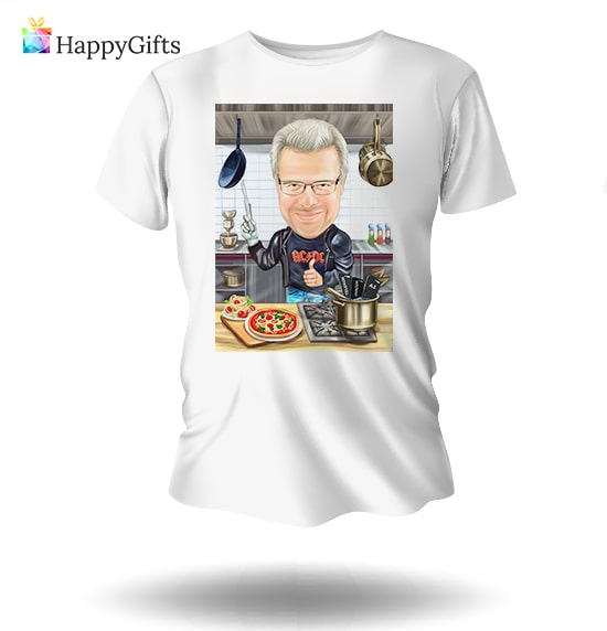 Тениска с карикатура на дядо