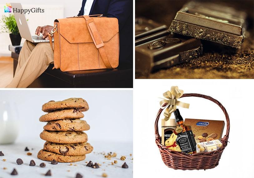 традиционни подаръци за доктор домашни бисквити кошница с шоколад и алкохол чанта