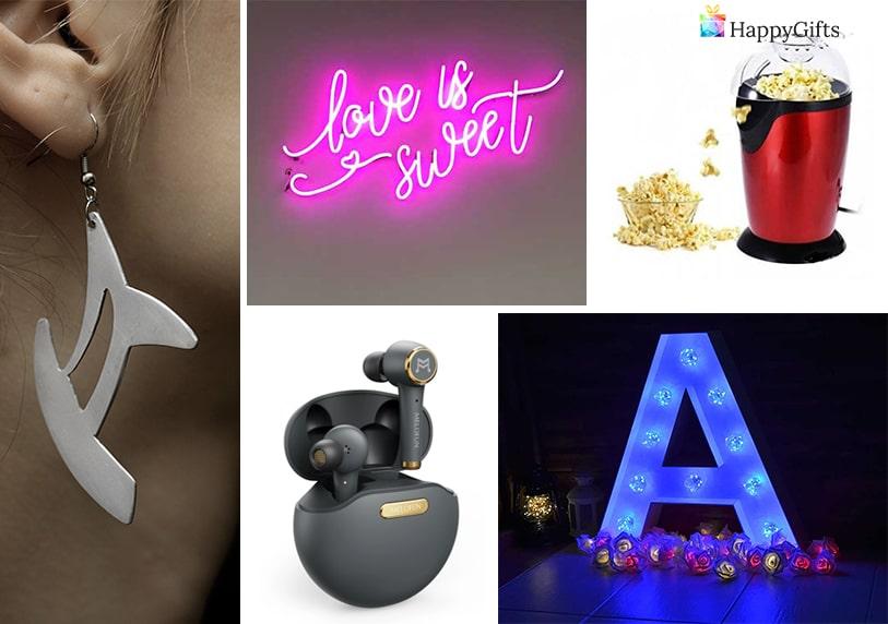 яки подаръци за тинейджърка светеща буква декорация светещ неонов надпис машина за пуканки обеци