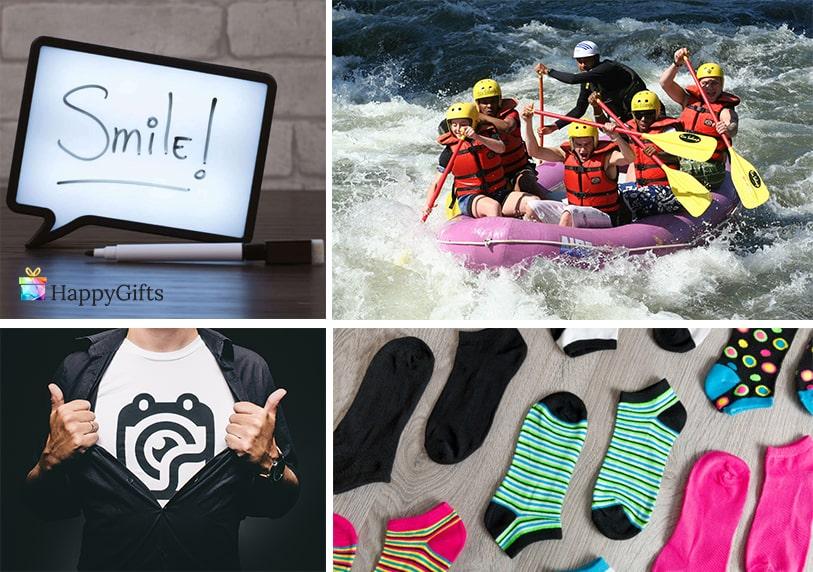 яки подаръци за тийнейджъри чорапи тениска с надпис рафтинг екстремно преживяване