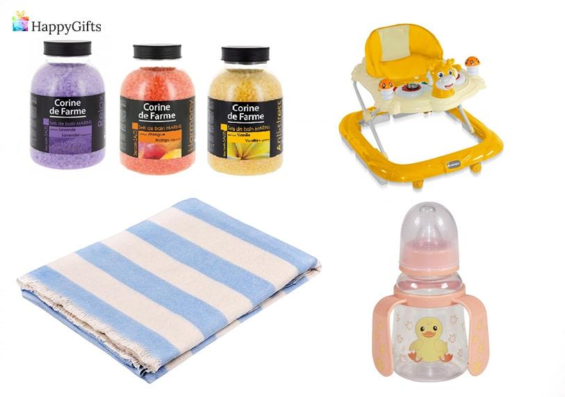 подарък за бременна колежка бебешко столче одеалце бутилка