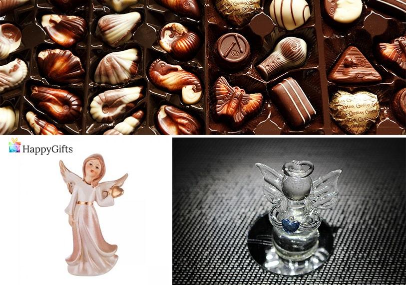 подаръци подходящи за гостите на кръщене бонбони фигурка на ангелче