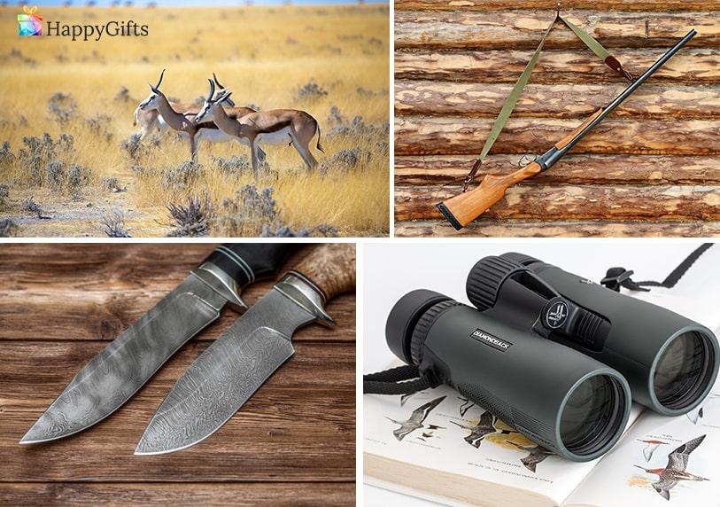 бинокъл ловен нож пушка сафари