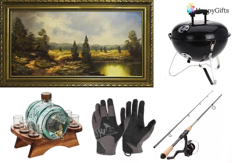 подарък за ловец на 30 ръкавици въдица барбекю картина