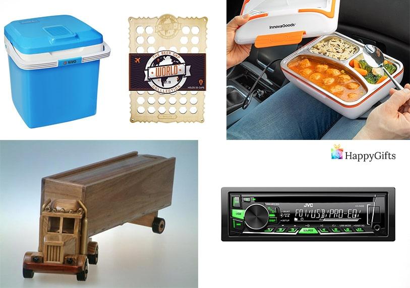 Подаръци за международен мъж шофьор хладилна чанта кутия за храна радио фигурка на камион
