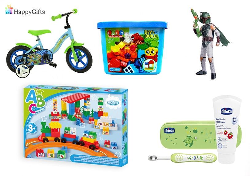подаръци за кръщене на момче комплект лего колело играчка четка за зъби