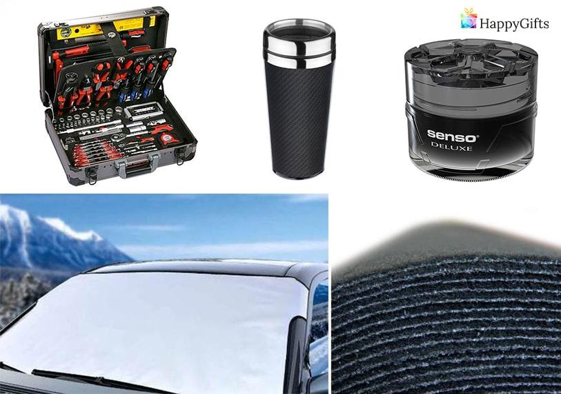оригинален подарък за мъж шофьор термос зимни гуми инструменти за ремонт