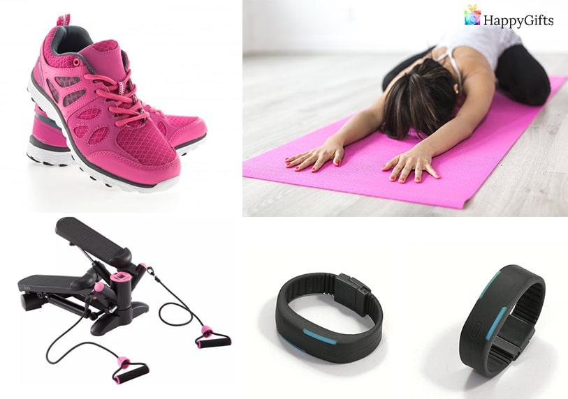 подарък за спортистка на 30 маратонки гривна степер уред за фитнес