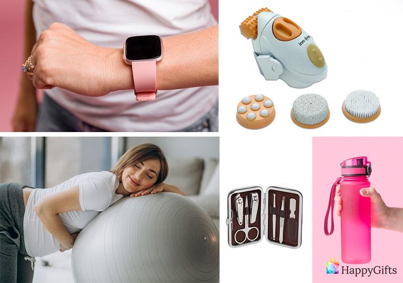 оригинален подарък за жена в майчинство топка за упражнения смарт часовник бутилка за вода