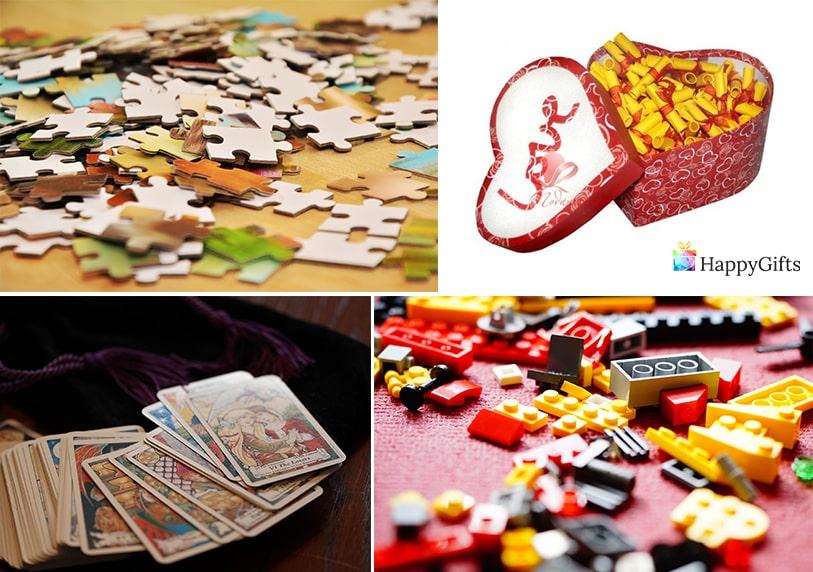 забавни подаръци за гадже момче пъзел късметчета обичам те карти за игра