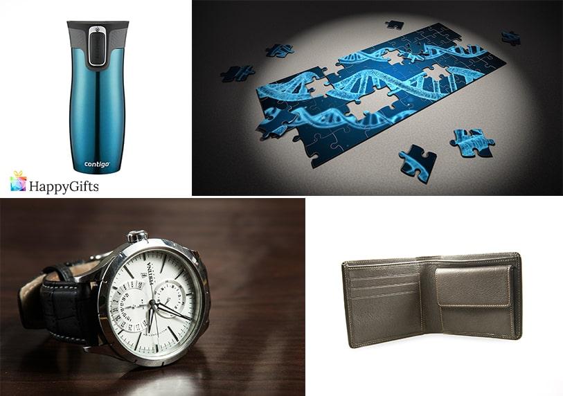 подарък за 40 годишнина на мъж часовник пъзел портфейл