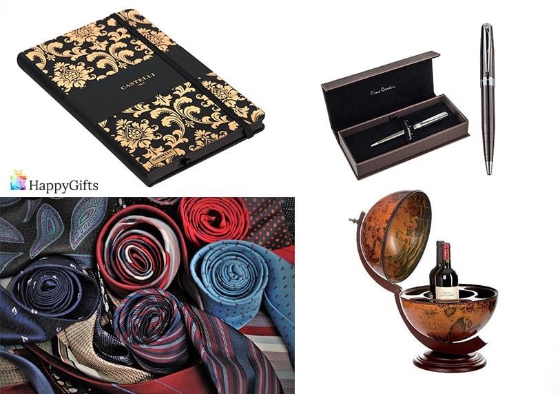 подарък за годишнина на мъж тефтер луксозна писалка глобус бар вратовръзка