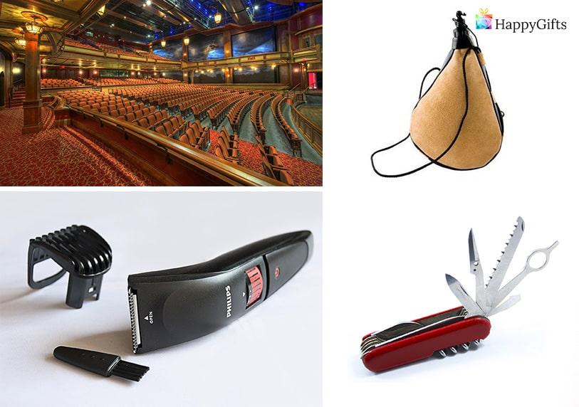 подарък за 60 годишен мъж имен ден самобръсначка швейцарско ножче мех за вино театър или концерт