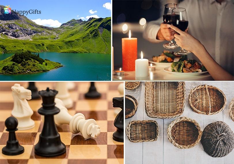 подарък за 60 годишнина на мъж шах кошница за пикник романтична вечеря почивка