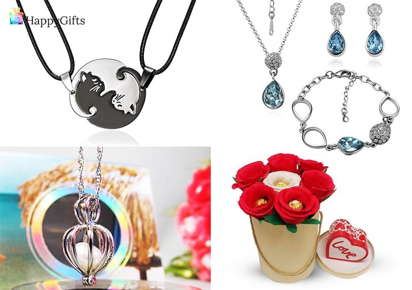 Подарък за гадже момиче, подарък за годишнина, бижута, подаръчна кошница, шоколадов букет, украшение
