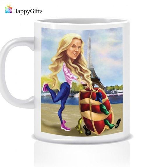 чаша с карикатура интересен оригинален подарък за имен ден на жена