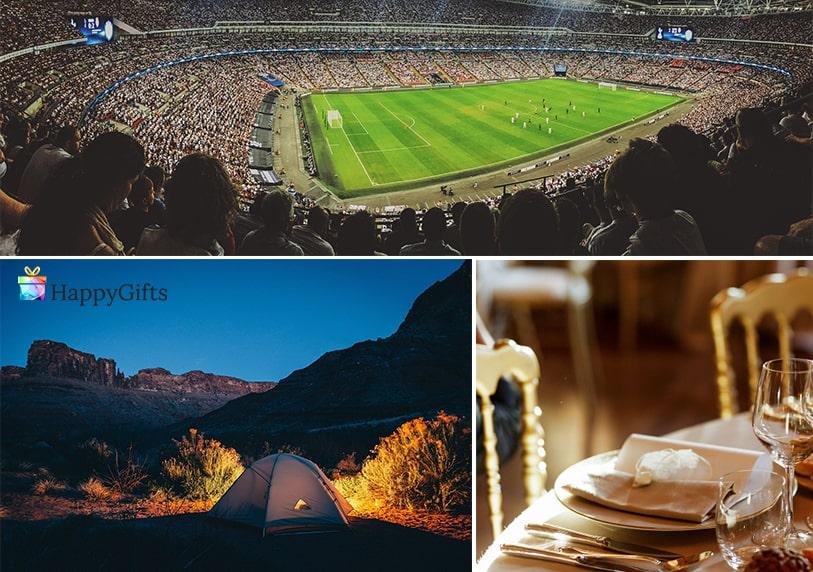 Изненада за любимия, подарък за гадже, билети за футболен мач, палатка, романтична вечеря