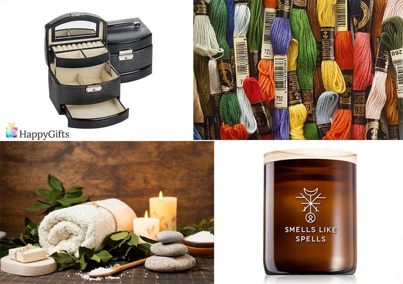 интересни подаръци за имен ден на жена на 60 конци за бродиране спа ароматна свещ кутия за бижута