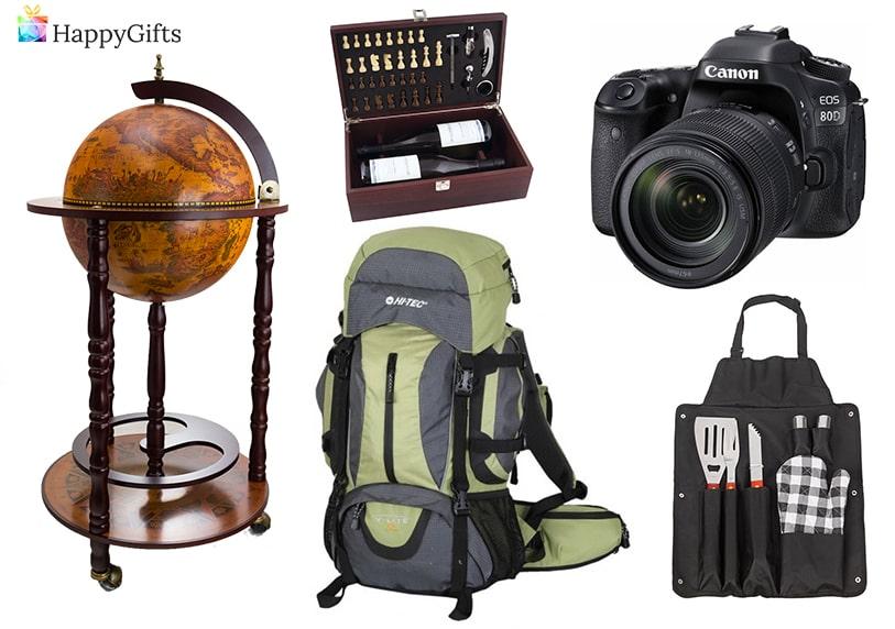 Глобус бар, кутия за вино, фотоапарат, раница, сет за барбекю, оригинални подаръци
