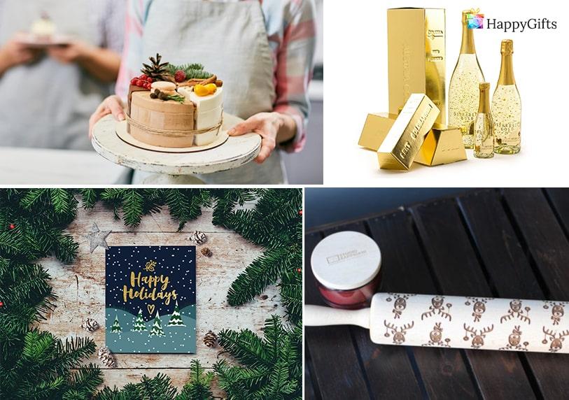 торта златно шампанско картичка точилка