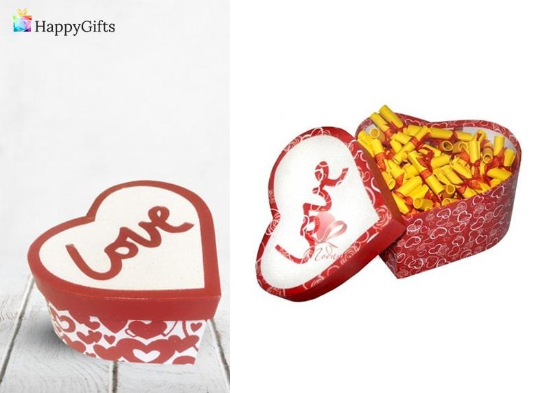 Оригинални подаръци за годишнина., подаръци за гаджето, кутия-сърце