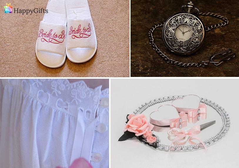 подаръци за годеж от свекървата, чехли, часовник, семейно бижу, нощница