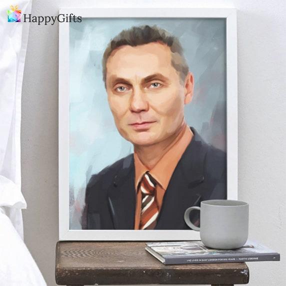 портрет по снимка, портрет за пенсиониране