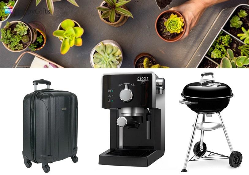 полезни подаръци, дом и градина, растения, куфар, кафемашина, барбекю
