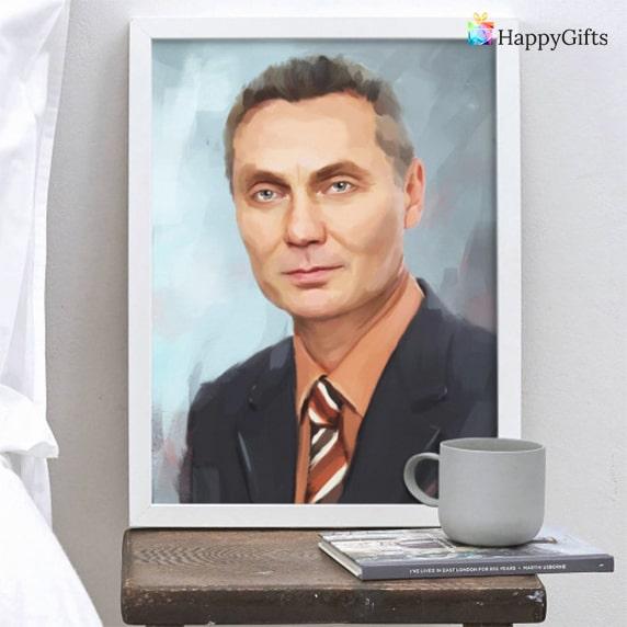 Портрет по снимка специален подарък за имен ден на мъж