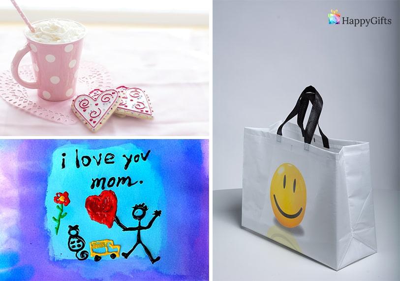 ръчно изработени подаръци за мама картина закуска в леглото торбичка с подаръци