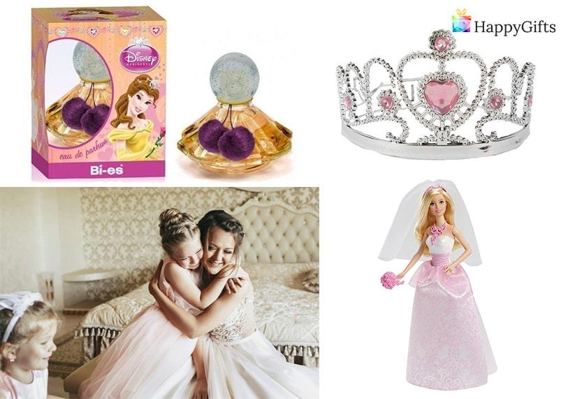 подарък от булката за шаферка дете коронка кукла булка играчка дисни принцеса
