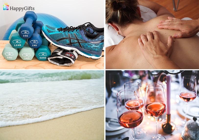 Коледен подарък ваучер за жена спорт по избор масаж вечеря почивка