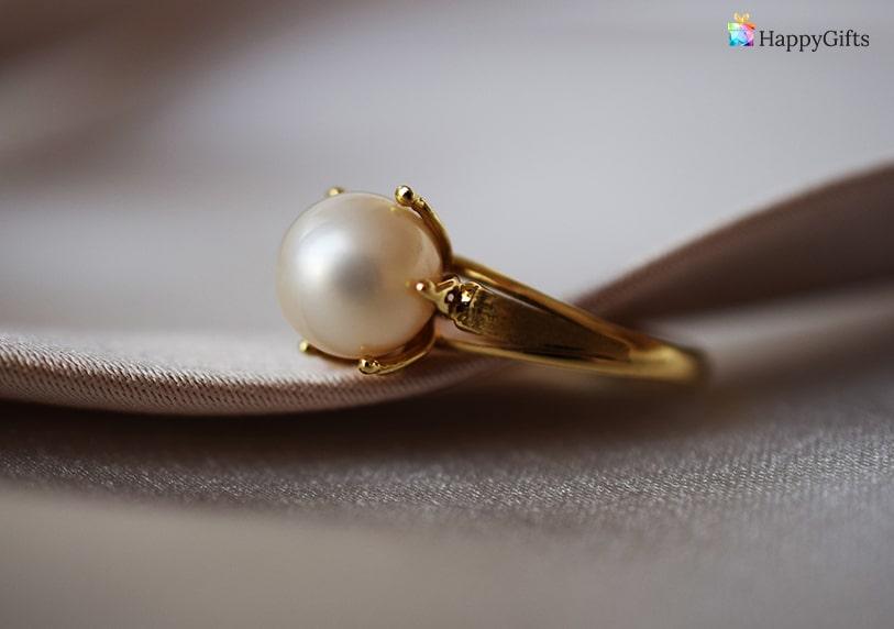 оригинален подарък за имен ден жена вяра надежда любов пръстен с перла