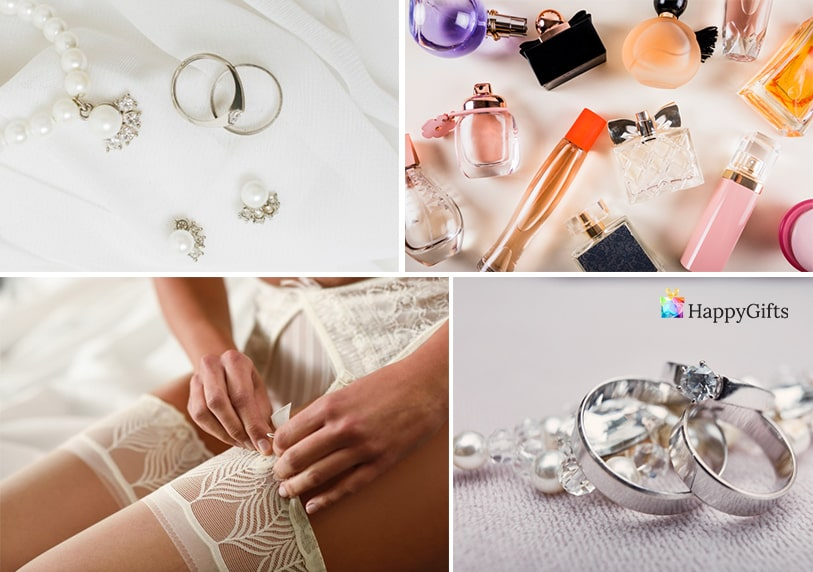 подарък за 8-ми март за любимата жена жартиери луксозно бельо парфюм пръстен