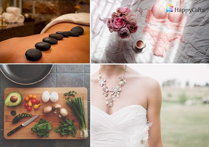 подарък от шаферките за булката моминско парти готварски курс луксозно бельо масаж и спа фотосесия