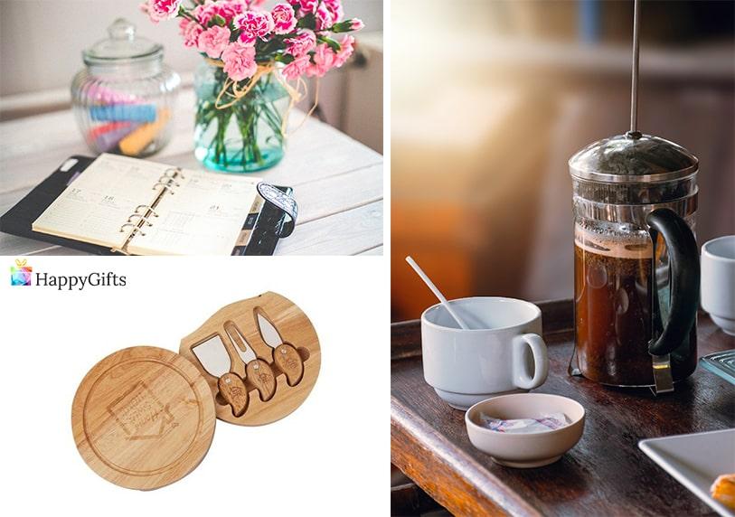 коледен подарък идеи за изненада на шефка тефтер сет за сирена кафе преса за кафе