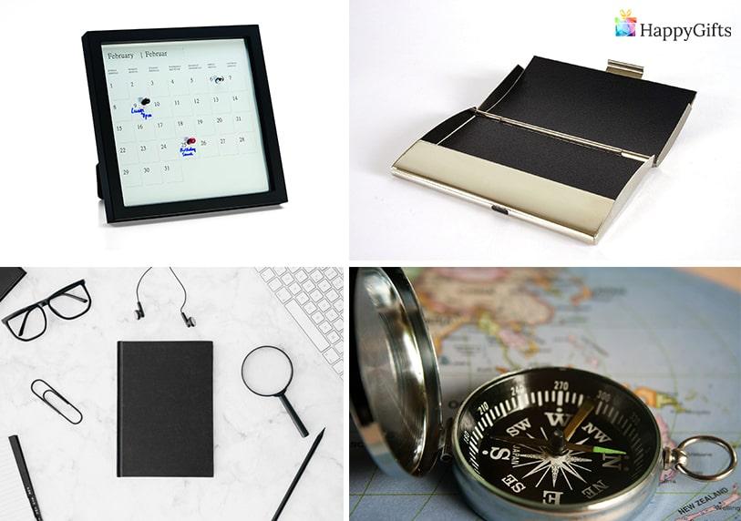 подарък за имен ден на шефа календар органайзер тефтер табакера компас