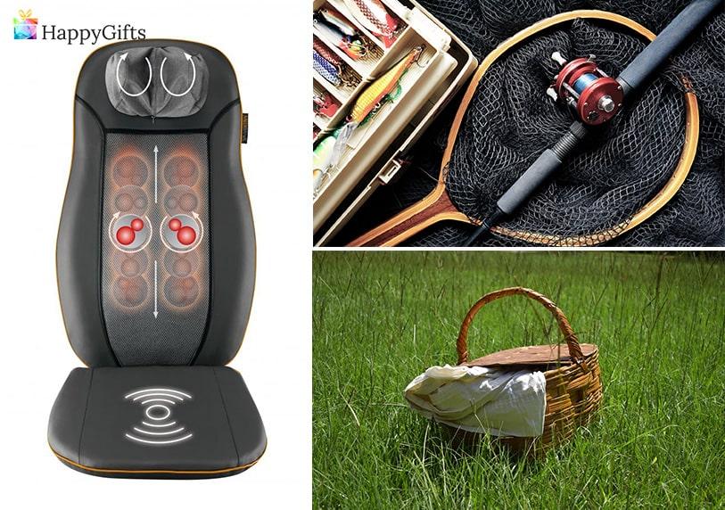 Забавни подаръци, Масажираща седалка, принадлежности за риболов, кошница за пикник