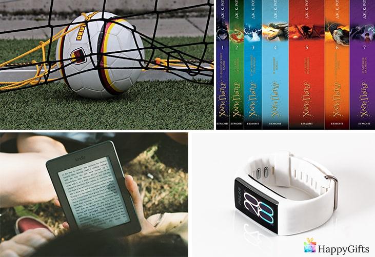подарък за 12 годишно момче; топка, електронен четец, книга Хари Потър, смарт часовник