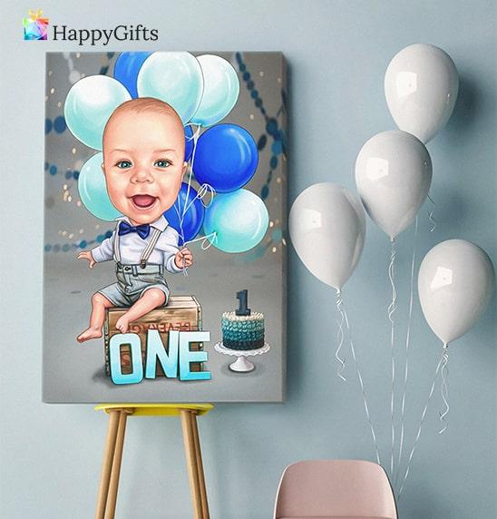 Подарък за 1 ви рожден ден; детска карикатура