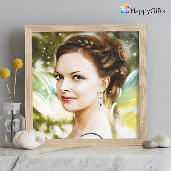 Подарък за 25 ти рожден ден; портрет по снимка