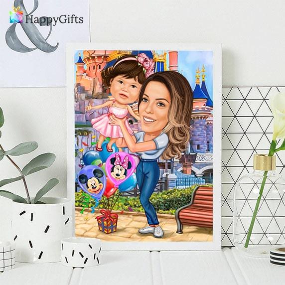 подарък за майка, подарък за мама, 8-ми март подарък, карикатура