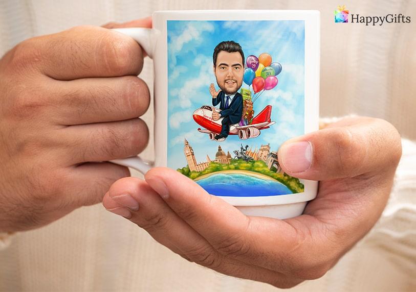 Подарък за 30 годишен юбилей; чаша с карикатура