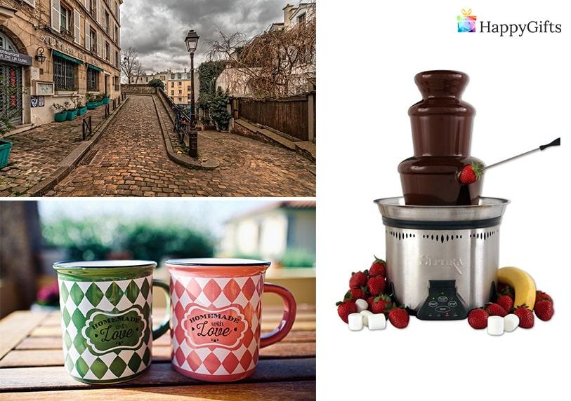 подаръци за дъщеря, подарък за дъщеря, шоколадов фонтан, екскурзия, почивка в чужбина, чаши