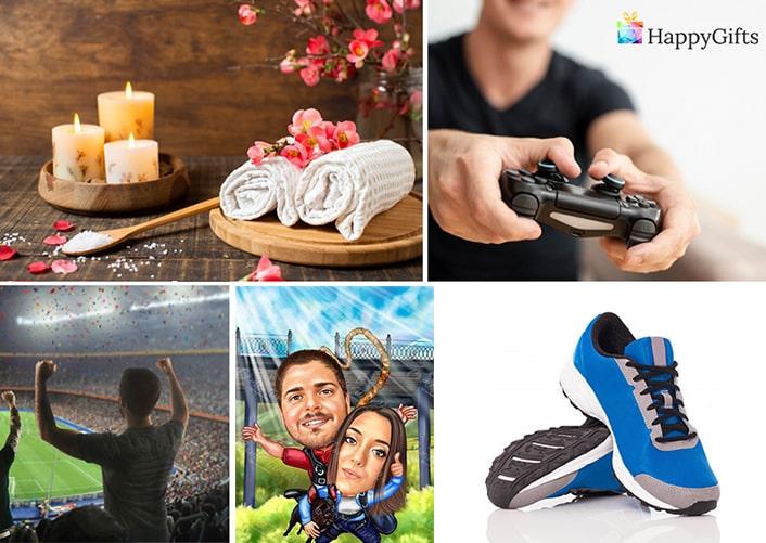 Подарък за любимия мъж за Свети Валентин; идеалният подарък, спа почивка, видео игра, билет за мач, карикатура по снимка, маратонки