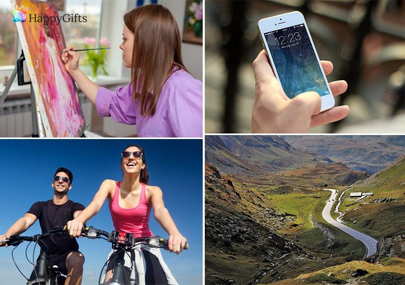 Идеи за подарък; курс по рисуване, телефон, колело, екскурзия